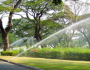 Intelligent irrigation of garden and green land