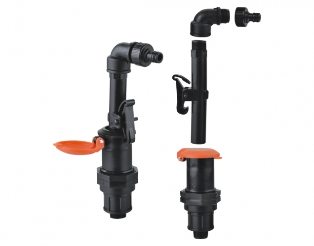 Outer silk plastic water intake valve