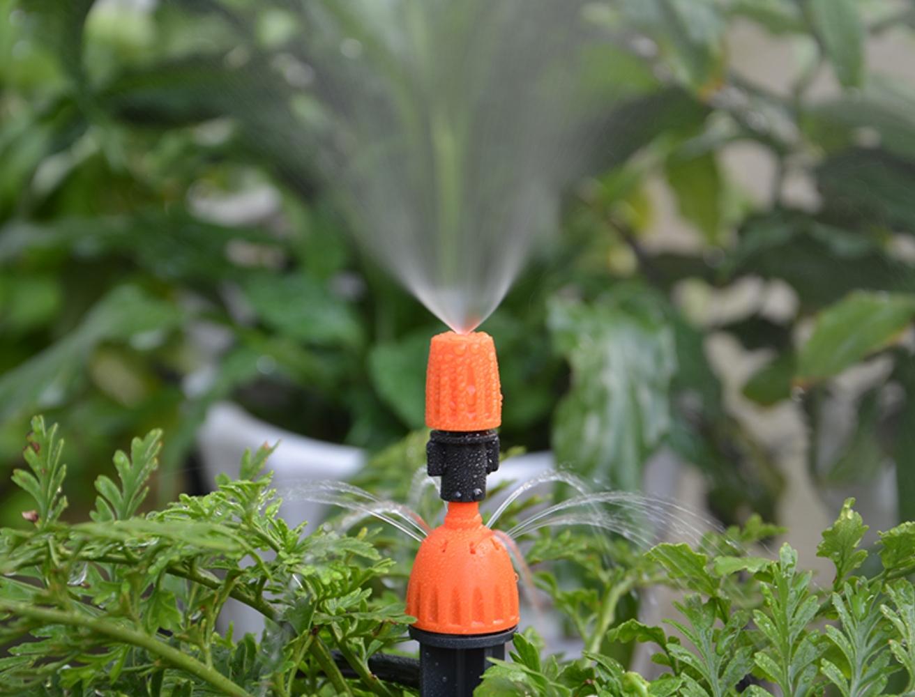 Drop and spray nozzle