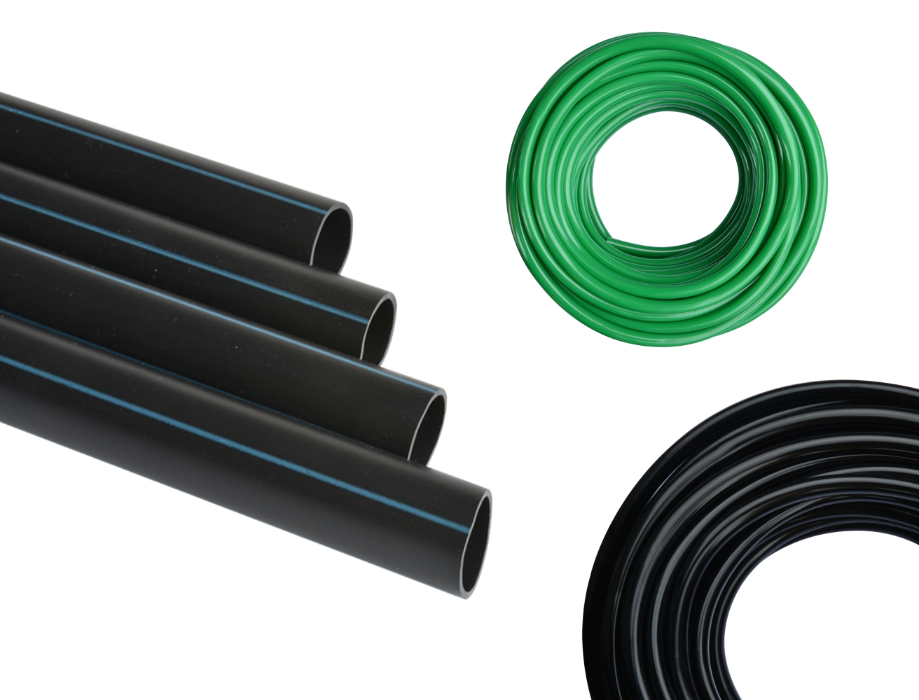 PVC and PE pipes